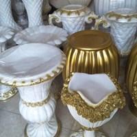 TERLARIS Vas Bunga/Pot Bunga Fiber Dekorasi Pelaminan Model Minimalis dan Klassik Di Jakarta 1