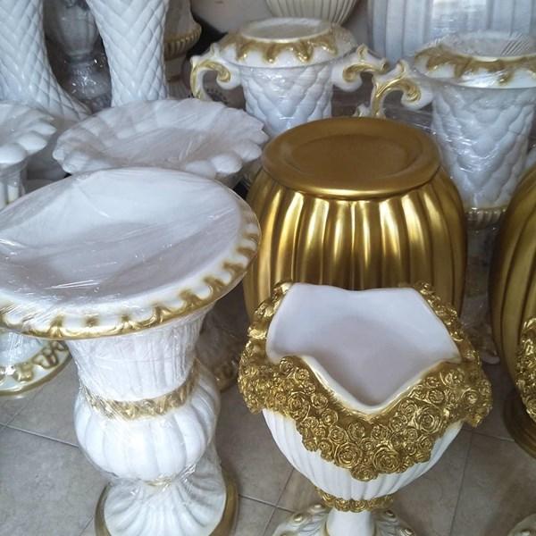 TERLARIS Vas Bunga/Pot Bunga Fiber Dekorasi Pelaminan Model Minimalis dan Klassik Di Jakarta