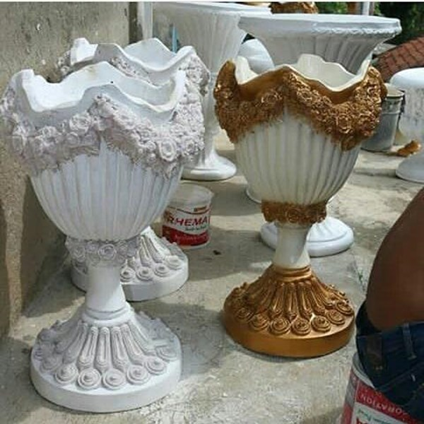 Jual Vas Bunga/Pot Bunga Fiber Harga Terjangkau dan Berkualitas Di Surabaya