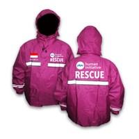 Jas Hujan Rescue - Jas Hujan Stelan Warna Pink