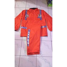 Police Raincoat - Raincoat Taslan Material Suits - Orange Color