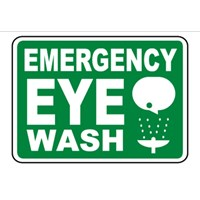 Safety Sign Emergency Eye Wash - Pencuci Mata Daru