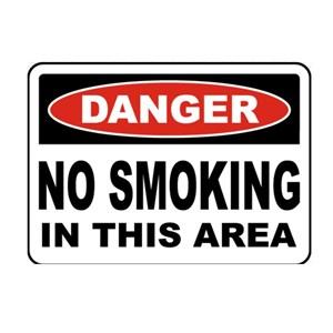 Safety Sign DANGER - Dangerous Sticker Size 50 x 40 cm