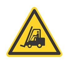Safety Sign Forklift Sedang Ber-Operasi - Ukuran 50 x 60 cm