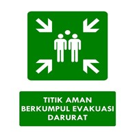 Sell Safety Sign Evacuation Gathering Point - Master Point Size 50 x 60 cm 2