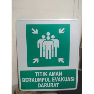 Safety Sign Evacuation Gathering Point - Master Point Size 50 x 60 cm