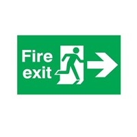 Papan Peringatan - Safety Sign Fire Exit - Jalur E