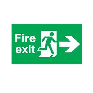 Papan Peringatan - Safety Sign Fire Exit - Jalur Evakuasi Kebakaran