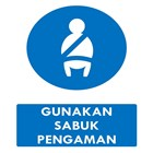 Warning Board - Safety Sign Use Seat Belts Size 40x60 cm 1
