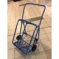 Trolley Tabung Double Ukuran 25 x 25 cm - Roda Karet 7 Inch