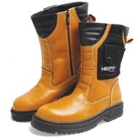 Sepatu Boot Kulit Safety Pria BSM Soga BSM 307 - Cokelat Muda