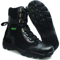 Sepatu Boot Kulit Asli Panjang Safety Pria 245 Merk Neff BASAMA Hitam