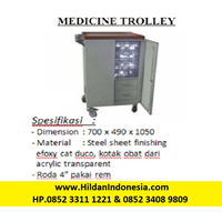 Troli - Medicine Trolley Rumah Sakit