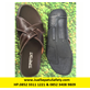 Sandal SLK Mutu Silang - Bahan Kulit Sapi Coklat Tua