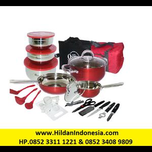 OX-993 33Pcs Oxone Panci Travel Cookware Set