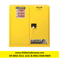 Justrite 893300 Yellow Industrial Safety Cabinet