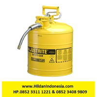 Justrite 7250220 Type II Yellow AccuFlow with Hose