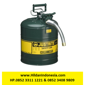 From Justrite 7250430 Type II Green AccuFlow with Hose Safety Container 0