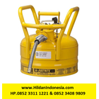 Justrite 7325220 Type II DOT Yellow AccuFlow Transport and Dispensing Safety Container 1