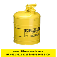 Justrite 7150200 Type I Yellow Larger Capacity Trigger Safety Container