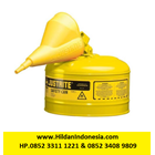 Justrite 7125210 Type I Yellow Larger Capacity Trigger Safety Container 1