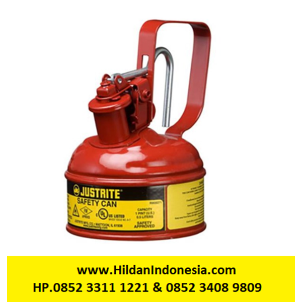 Justrite 10001 Type I Red Small Capacity Trigger Safety Container