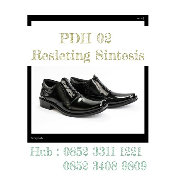 Sepatu Kilap Dinas Harian PDH 02 Reseleting Sintetis