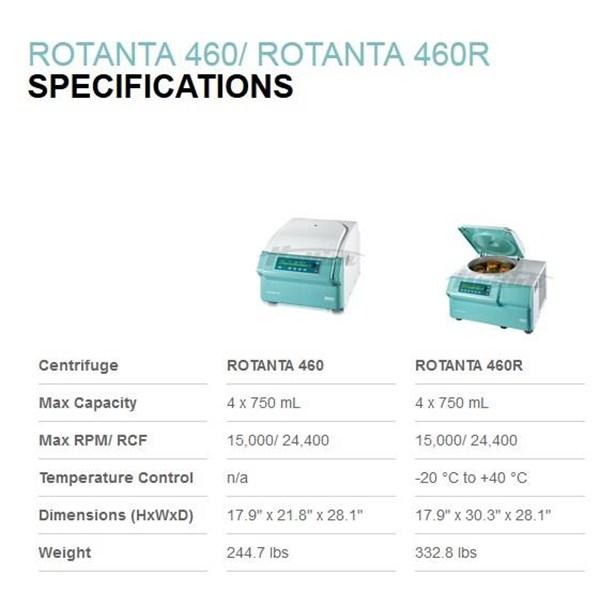 Centrifuge Rotanta 460 Hettich