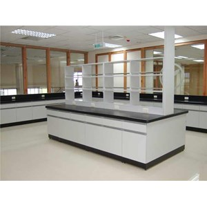 Meja Lab Island Bench Laboratorium