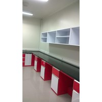 Alat Laboratorium umum meja lab island bench dan wall Bench