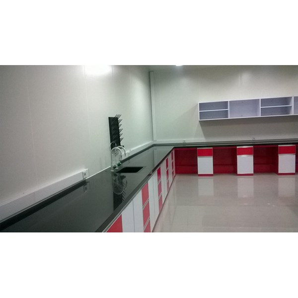 Alat Laboratorium umum meja lab island bench dan wall Bench