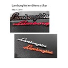 Stiker Emblem Lamborgini 1
