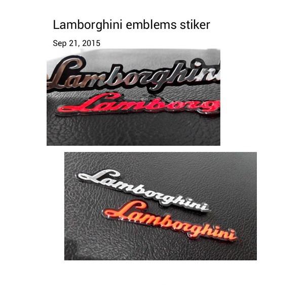 Stiker Emblem Lamborgini