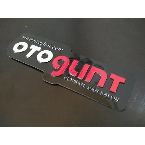 Stiker brand toko