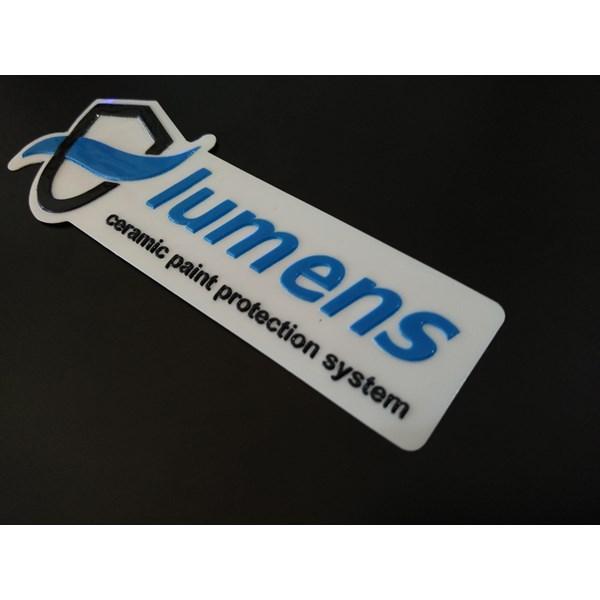 Stiker embos brand