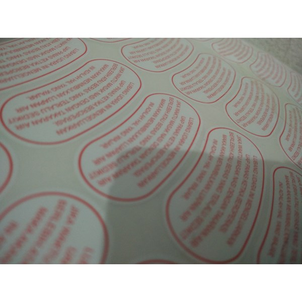 stiker label produk