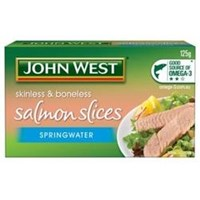 John West Salmon Slices In  Springwater 125Gr