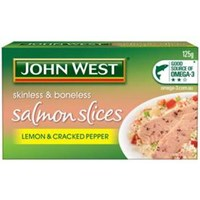 John West Salmon Slices Lemon & Cracked Pepper 125Gr