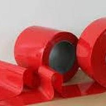 PLASTIC PVC CURTAIN CURTAIN RED