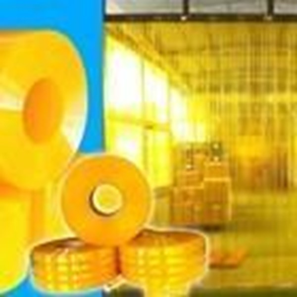 Tirai PVC Kuning Curtain - distributor tirai pvc