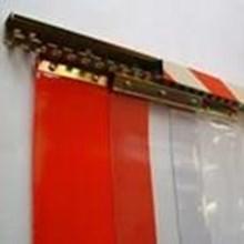 PVC STRIP CURTAIN RED