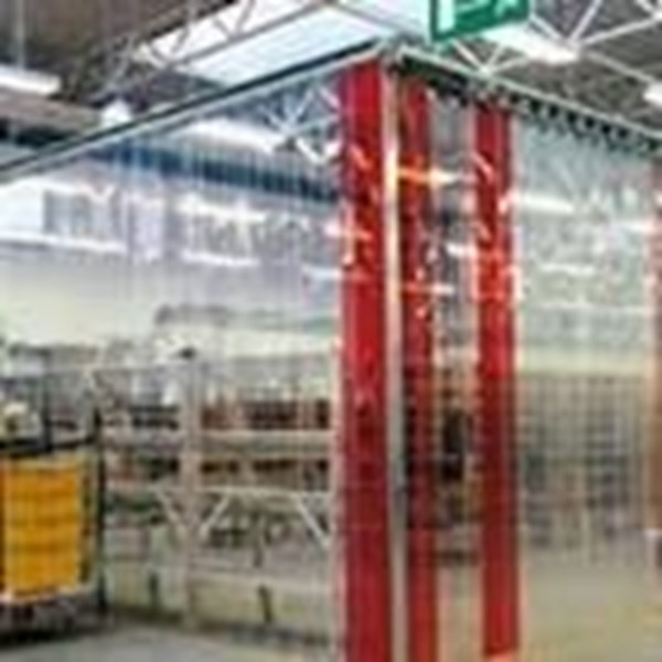 PVC STRIP CURTAIN RED