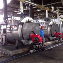 Jual Fire tube Steam Boiler Dual Fuel