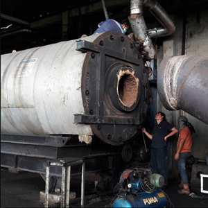 Service Oil Tube Boiler 5 By PT. Indira Dwi Mitra