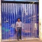 PVC strip curtain Blue clear pondok kopi 1