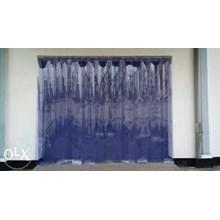 Plastik Curtain outdoor Blue clear  whatsapp (0821 1059 5912)