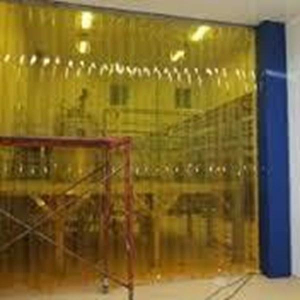 Wonosobo tirai PVC Curtain (Kuning anti Serangga)