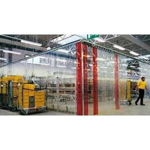 transparan PVC Strip tirai natural