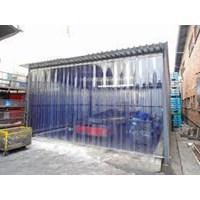 Transparan PVC curtain kuning kalimantan 1