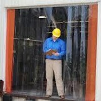 PVC Curtain Kuning transparan pekalongan 1